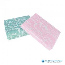 Inpakpapier - Baby - Blauw en roze (Nr. 601449/1) - allebei