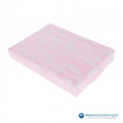Inpakpapier - Baby - Blauw en roze (Nr. 601449/1) - Voorbeeld roze