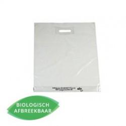 Plastic draagtassen - EPI Transparant - Vooraanzicht