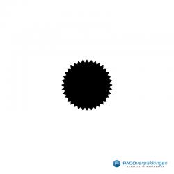 Stickers ster - Zwart Glans - CloseUp