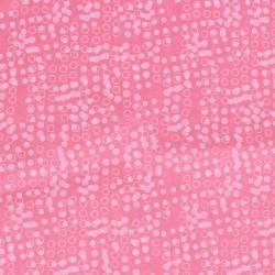 Zijdepapier - Stippen - Wit op roze - CloseUp