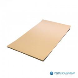 Golfkarton - Platen - Europallet - Bruin - Vooraanzicht