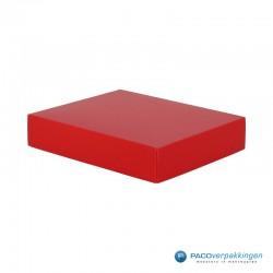 Geschenkdoos met deksel - Rood Mat (Venetië) - Zijaanzicht voor dicht