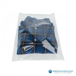 PP zakken met kleefstrip - Transparant Gebruik