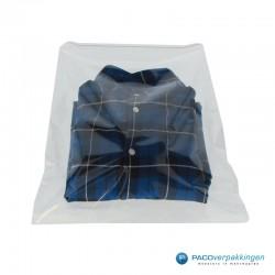 PP zakken met kleefstrip A3+ - Transparant - Gebruik open