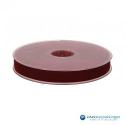 Velvet lint - Bordeaux Rood - Vooraanzicht