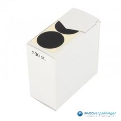 Sluitstickers - Zwart Mat - Bovenaanzicht2