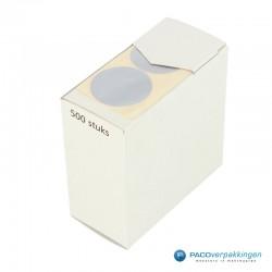 Sluitstickers - Zilver Mat - Bovenaanzicht2