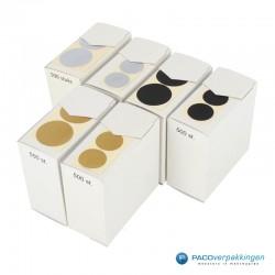Sluitstickers - Zilver Mat - Collectie4