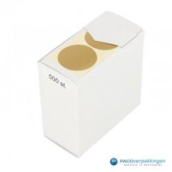 Sluitstickers - Goud Mat - Bovenaanzicht2