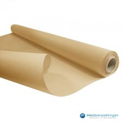 Inpakpapier - Effen - Bruin kraft - Budget - Op rol