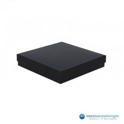 Geschenkdoos | Sieradendoos ketting of sieradenset (groot) - Zwart Mat - Inlay Foam - Luxe - Zijaanzicht