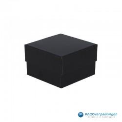 Geschenkdoos | Sieradendoos horloge - Zwart Mat - Inlay Foam - Luxe - Zijaanzicht