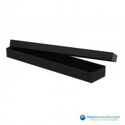 Geschenkdoos | Sieradendoos armband - Zwart Mat - Inlay Foam - Luxe - Geopend