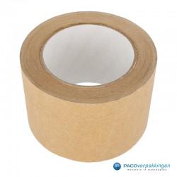 Papier tape - Breed - 75 mm - Bruin - vooraanzicht