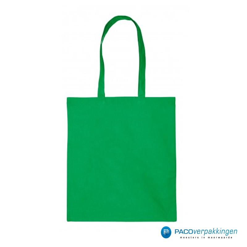 Katoenen draagtassen - Groen - Lange hengsels - Bovenaanzicht