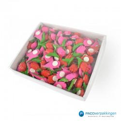 Plakdecoratie - Tulpen - Roze en Rood - Zijaanzicht verpakking