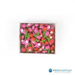Plakdecoratie - Tulpen - Roze en Rood - Vooraanzicht verpakking