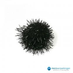 Plakdecoratie - Pom Pom - Zwart - Vooraanzicht
