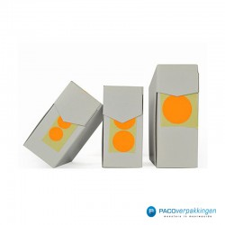 Stickers rond - Fluor Oranje Mat- Dispensers vooraanzicht