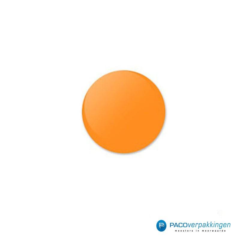 Stickers rond - Fluor Oranje Mat- Vooraanzicht