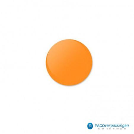 Stickers rond - Fluor Oranje Mat