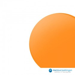 Stickers rond - Fluor Oranje Mat - Close-up