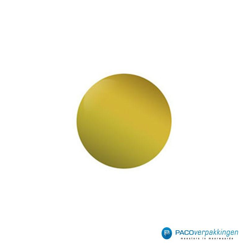 Stickers rond - Goud Mat- Vooraanzicht