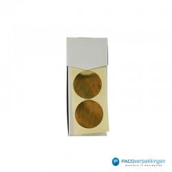 Stickers rond - Goud Mat - Dispenser