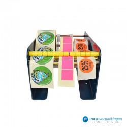 Stickers dispenser 3 rollen - Blauw - Vooraanzicht