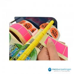 Stickers dispenser 3 rollen - Blauw - Gebruik