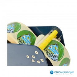 Stickers dispenser 1 rol - Blauw - Detail
