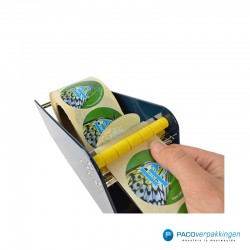 Stickers dispenser 1 rol - Blauw - Toepassing