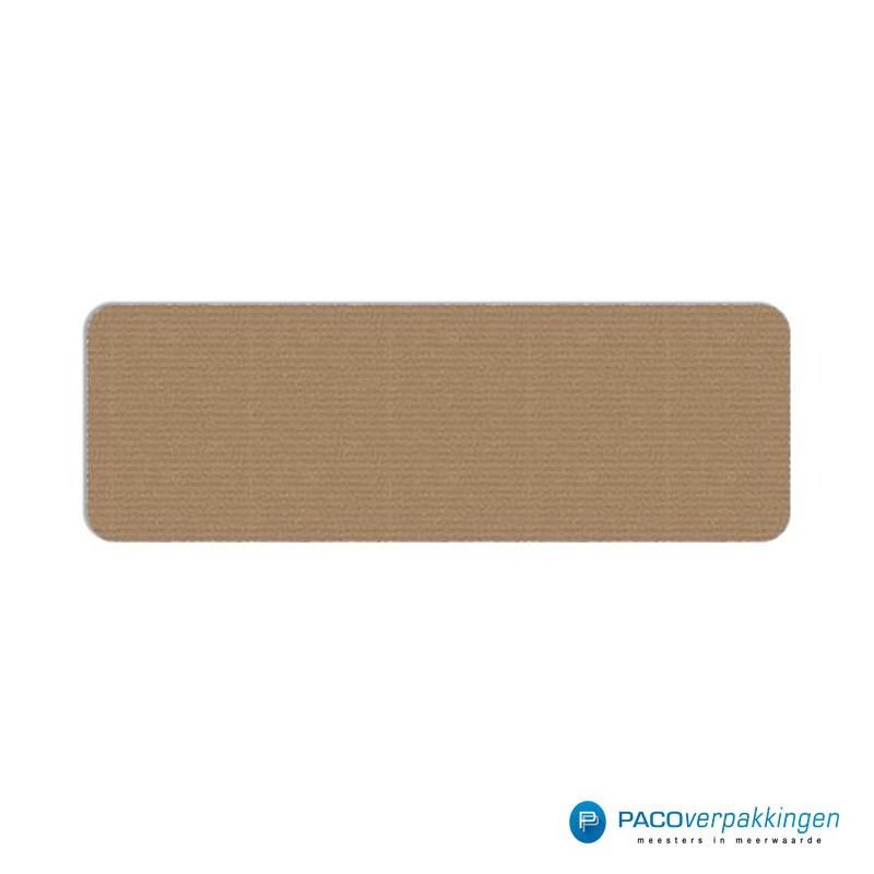 Vierkante stickers - Bruin - Vooraanzicht