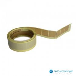 Vierkante stickers - Bruin - Rol