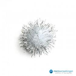 Plakdecoratie - Pom Pom - Zilver - Vooraanzicht