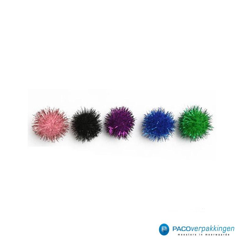 Plakdecoratie - Pom Pom - Assorti - Vooraanzicht