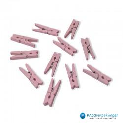 Houten knijper - Roze - Vooraanzicht