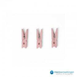 Houten knijper - Roze - 3 stuks
