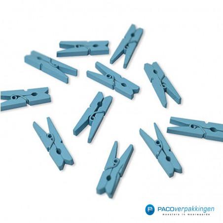 Houten knijper - Licht blauw