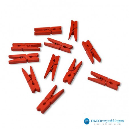 Houten knijper - Rood