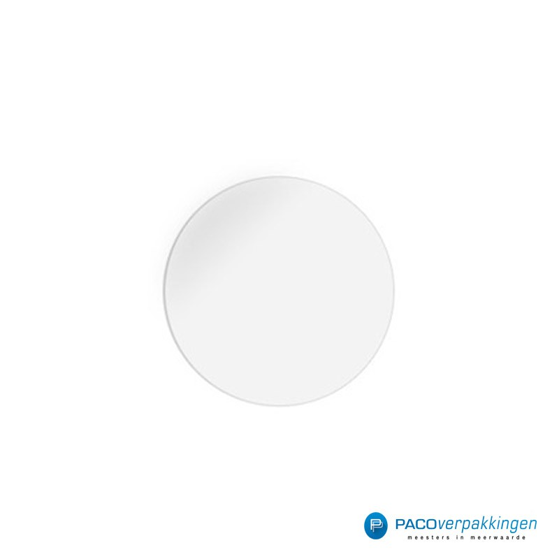 Stickers rond - Transparant - Vooraanzicht
