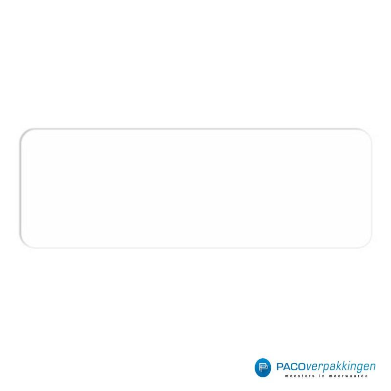Vierkante stickers - Wit - Vooraanzicht