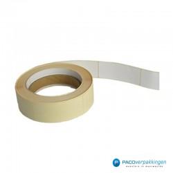 Vierkante stickers - Wit - Rol