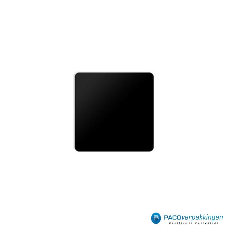 Vierkante stickers - Zwart - Vooraanzicht