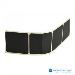 Vierkante stickers - Zwart - Vooraanzicht stickers