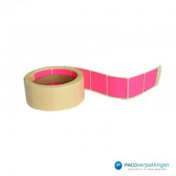 Vierkante stickers - Roze - Rol