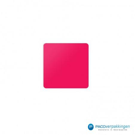 Stickers vierkant  - Roze Mat