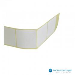 Vierkante stickers - Wit - Vooraanzicht stickers