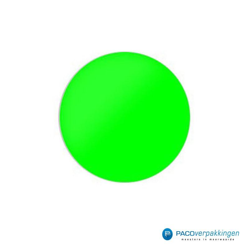 Stickers rond - Fluor Groen Mat - Vooraanzicht